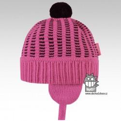 Pletená čepice Mikeš - vzor 01