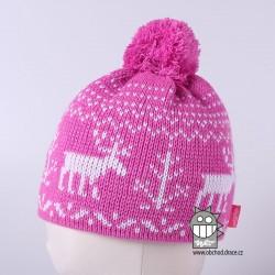 Čepice pletená norsk - vzor 22
