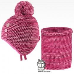 Set - pletená čepice a nákrčník