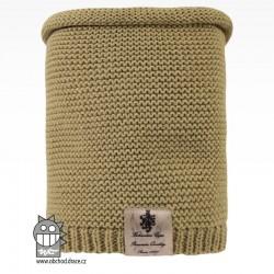 Nákrčník pletený Colors - vzor 14 - olivová