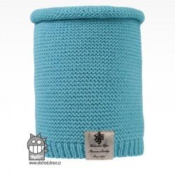 Nákrčník pletený Colors - vzor 15 - světle tyrkysová
