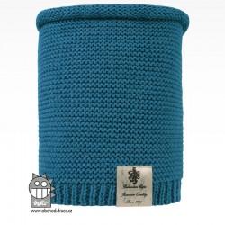 Nákrčník pletený Colors - vzor 17 - modrá