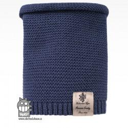 Nákrčník pletený Colors - vzor 18 - modrošedá