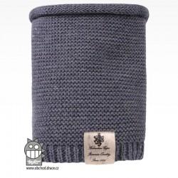 Nákrčník pletený Colors - vzor 19 - jeans modrá