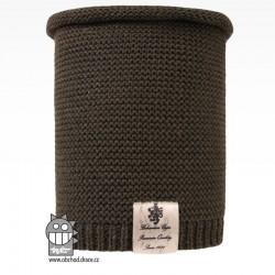 Nákrčník pletený Colors - vzor 20 - khaki