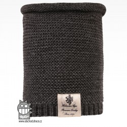 Nákrčník pletený Colors - vzor 22 - tmavě šedá