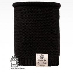 Nákrčník pletený Colors - vzor 24 - černá